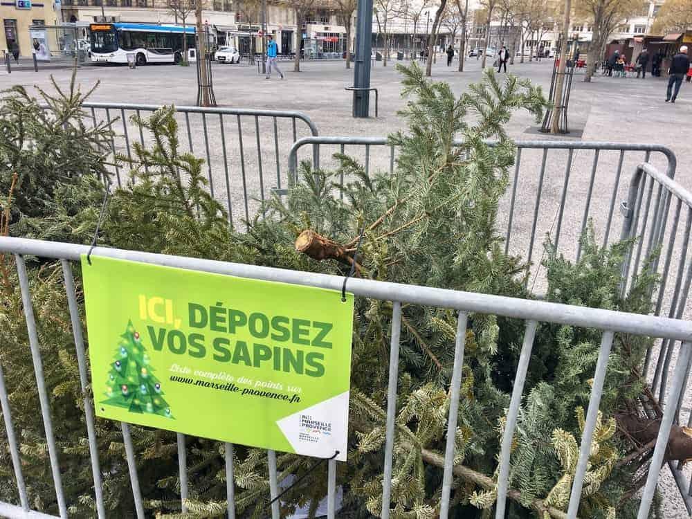 sapin, Découvrez les lieux où jeter votre sapin de noël à Marseille, Aix ou Aubagne !