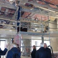 La mezzanine, en travaux, où se trouveront permanences d'accueil et administration © AP