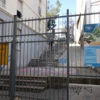 L'escalier de la rue Francis de Pressensé qui mène au jardin va être réhabilité © AP