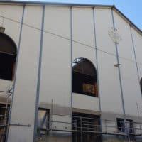 Façade de la halle qui accueillera le centre social © AP