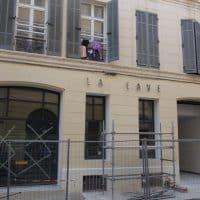 """La nouvelle entrée de la salle de concert """"Les Caves"""", rue Francis de Pressensé © AP"""