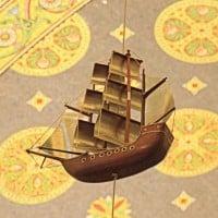 Les bateaux en hommage aux marins partout au plafond