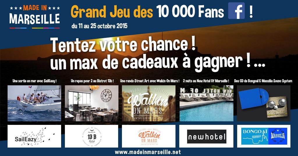 Facebook, Grand Jeu Facebook des 10 000 fans : plus de 1000 euros de cadeaux à gagner !