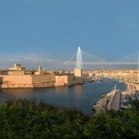 Les images du remake du pont transbordeur à l'entrée du Vieux-Port