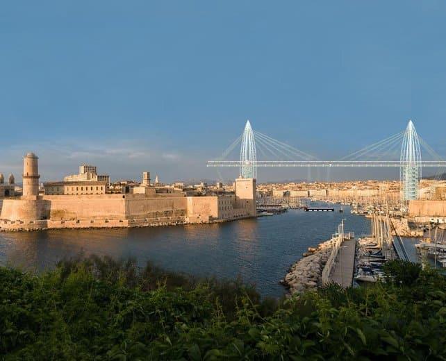 Un remake du pont transbordeur l entr e du vieux port - Office du tourisme marseille vieux port ...