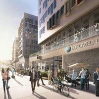 La future rue commerciale vue en long