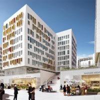 La future rue commerciale vue de face