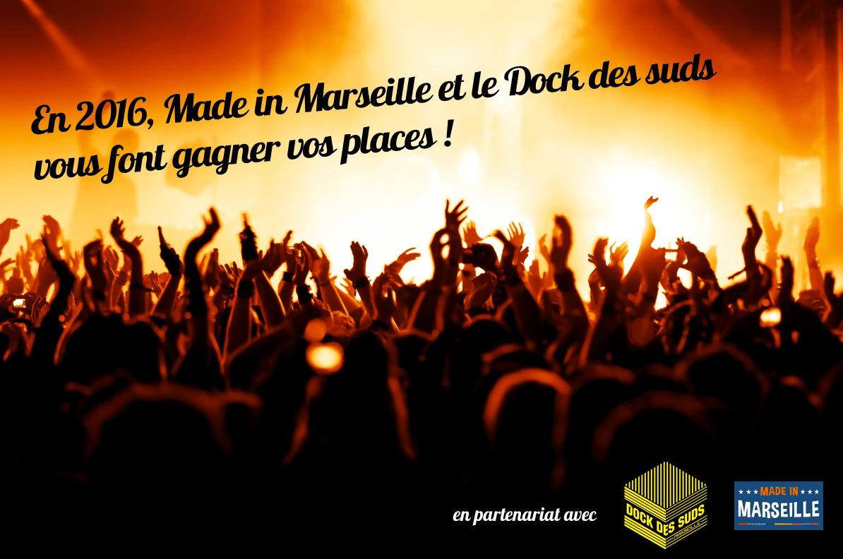 Dock des Suds, Gagnez vos places pour le Dock des Suds en partenariat avec Made in Marseille