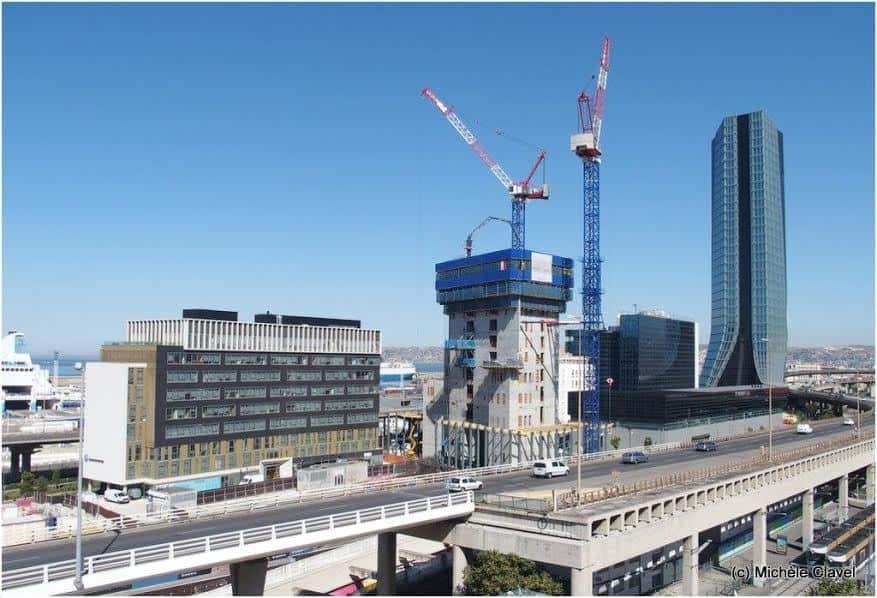 La tour la marseillaise imagin e par jean nouvel est en chantier made in ma - Tour de verre marseille ...