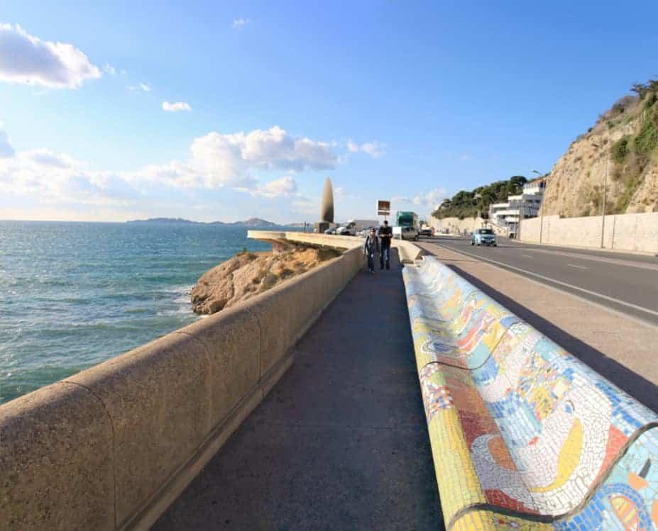mosaique, De nouvelles mosaïques pour habiller le banc de la Corniche Kennedy, Made in Marseille, Made in Marseille