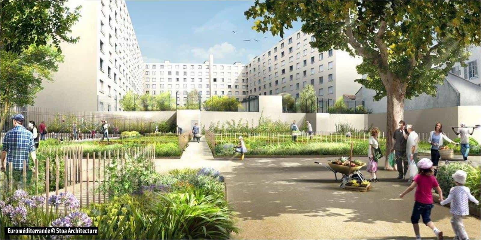 Les habitants de la joliette auront des jardins partag s - Salon du jardin marseille ...