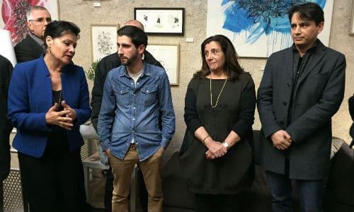 Inauguration de la Maison des commerçants - Lisette Narducci, Jean-Paul Alexis, Solange Biaggi, Alexandre Seddik