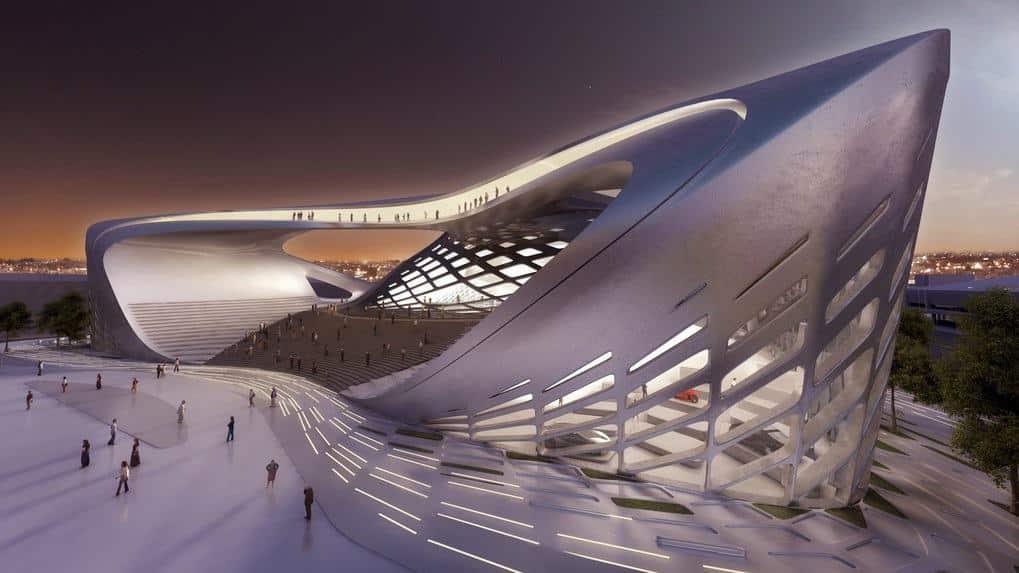 Hommage zaha hadid architecte de la tour cma cgm made for Arquitectura parametrica