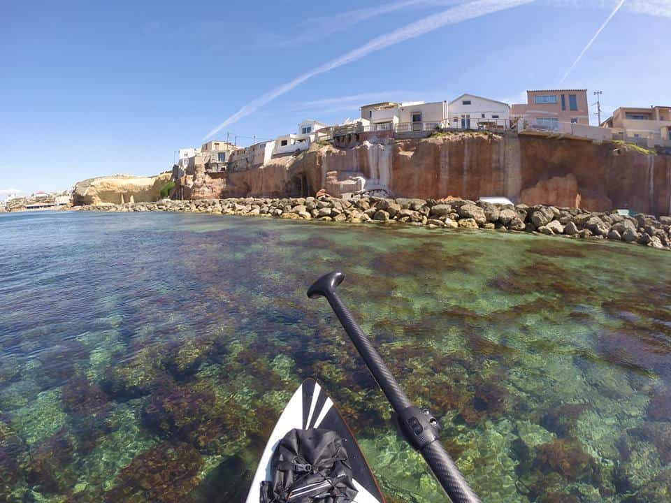 Balade en paddle entre la Pointe Rouge et la Madrague par Seb Fox