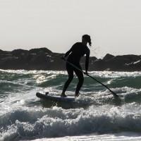Session paddle dans les vagues