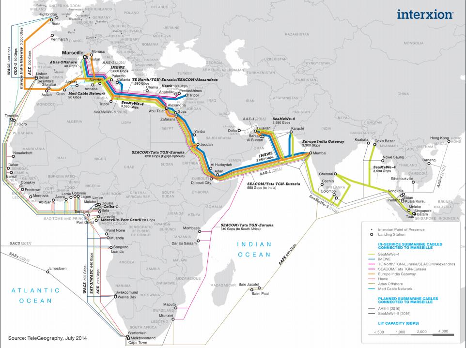 Marseille, Marseille, le nouveau carrefour mondial de l'hyperconnexion ?