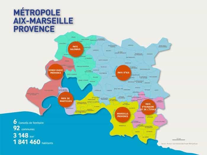 Le territoire de la Métropole Aix Marseille Provence