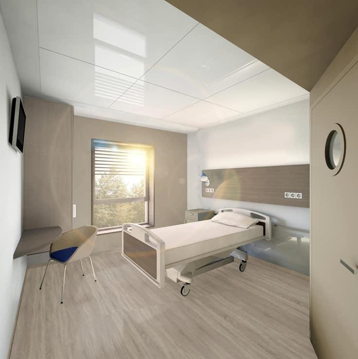 Un Nouvel Hôpital Moderne Et Performant Va Ouvrir à Aix En Provence En.  Exemple De Chambre