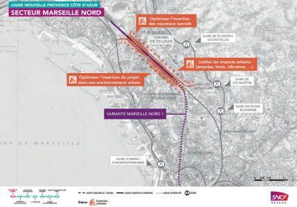 Le tracé retenu et les demandes émises © SNCF Réseau
