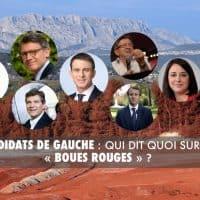 Hamon, Macron, Mélenchon, qui dit quoi sur les « boues rouges » ?