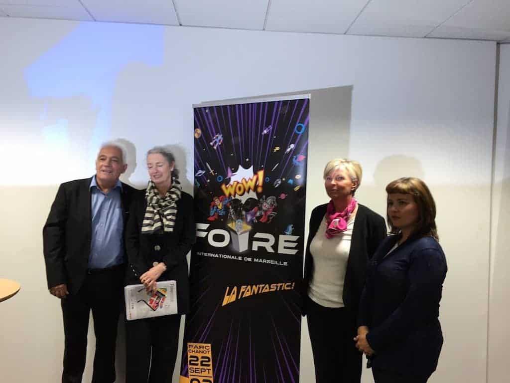 L'équipe de la SAFIM, accompagnée de Maggie Doyle des éditions Robert Laffont