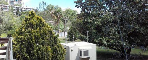 La cabine de mesure de la qualité de l'air, dans le secteur de la Fourragère