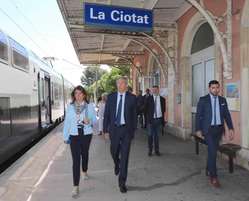 Martine Vassal en visite à la gare de La Ciotat © CD13
