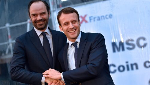 Edouard Philippe et Emmanuel Macron en février 2016. - AFP