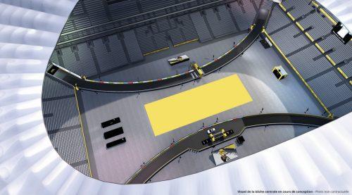 Le stade Vélodrome en configuration