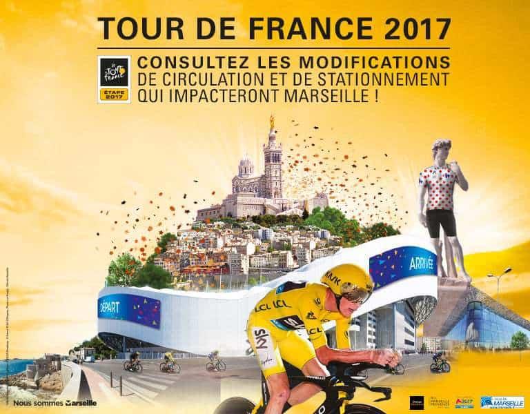 Marseille Tour de France 2017 - Consultez les modifications de circulation et de stationnement