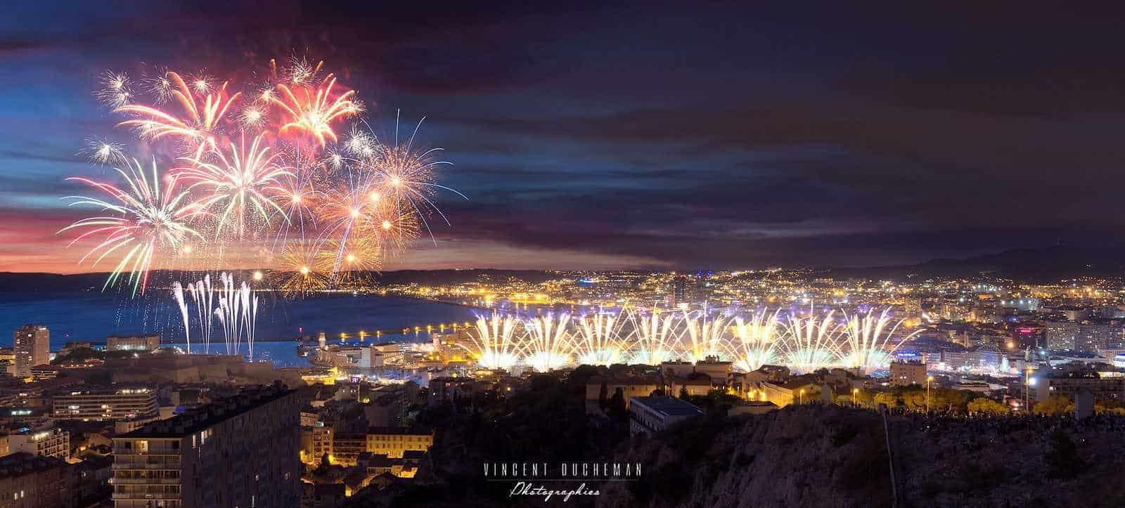 artifice, Où et quand regarder le feu d'artifice à Marseille et en Provence ?