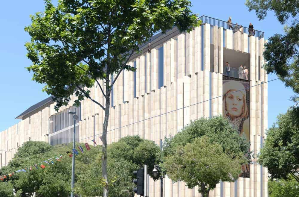 cinéma, Les images du futur cinéma Artplexe à la place de la mairie sur la Canebière