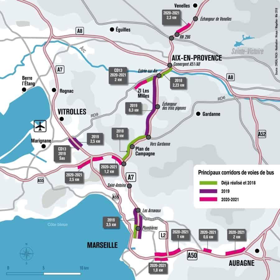 40 kilom tres en plus de voies d di es au bus sur autoroute d 39 ici 2021 made in marseille. Black Bedroom Furniture Sets. Home Design Ideas