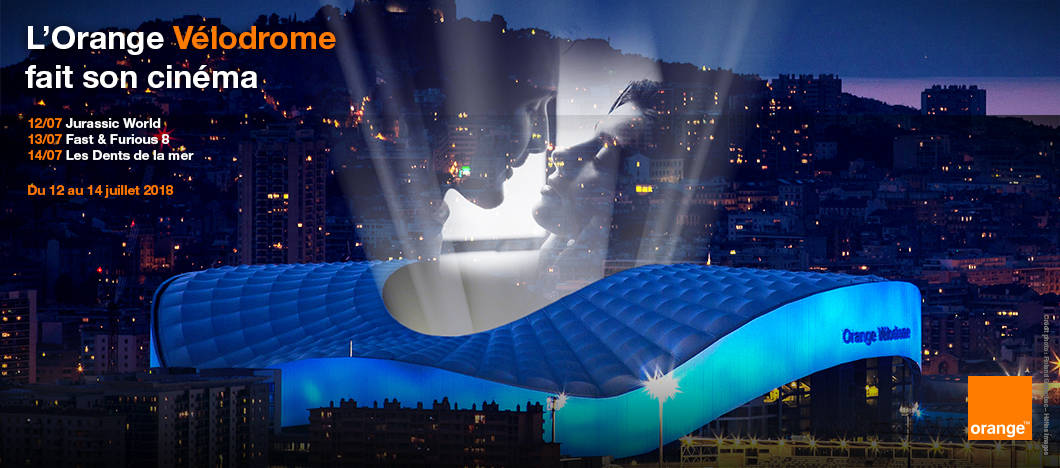 Orange Vélodrome, Cet été, le stade Orange Vélodrome se transforme en cinéma plein air
