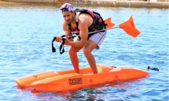 paddle ski sur eau bâtons