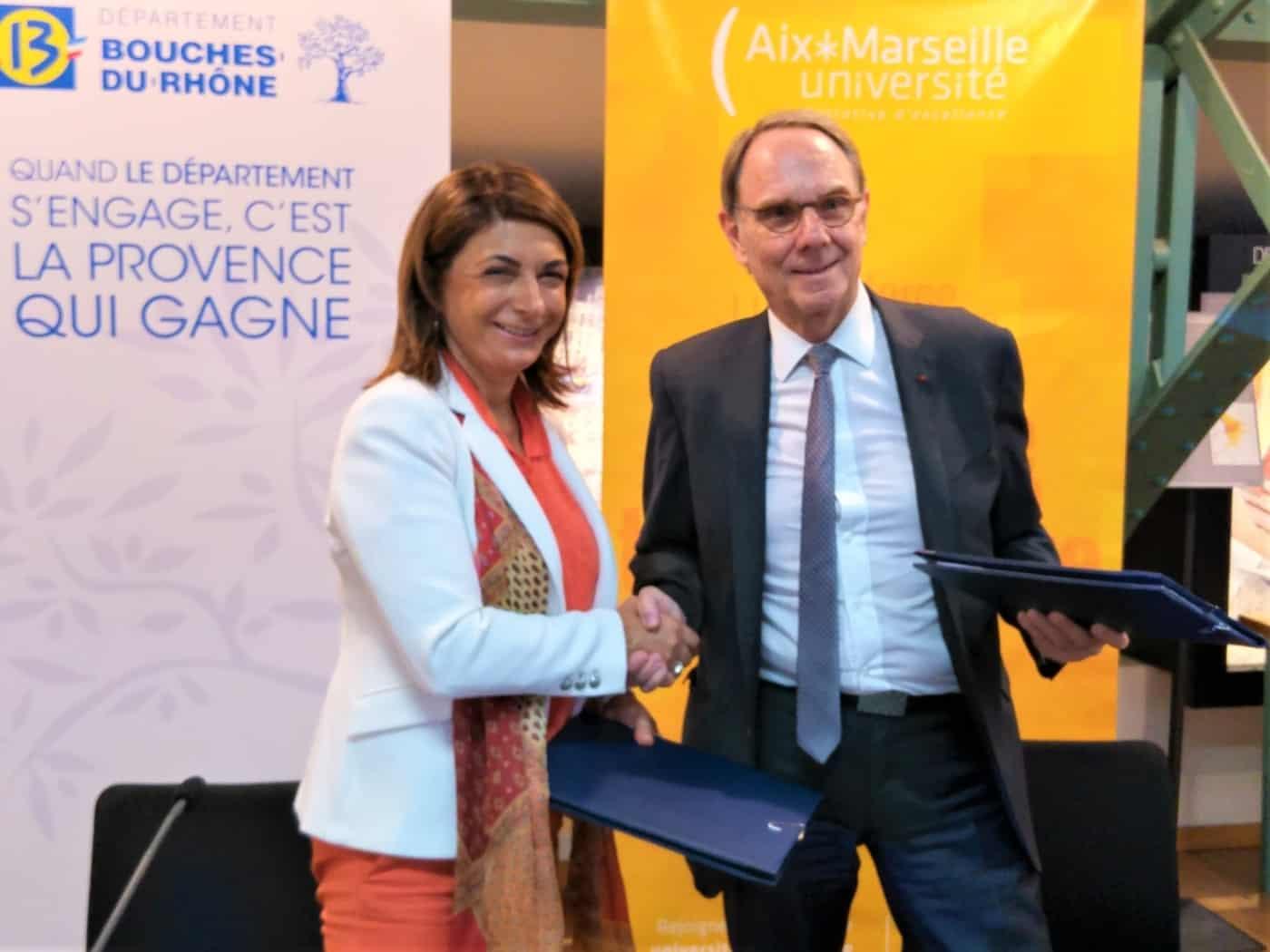 , Aix-Marseille Université et le Département avancent main dans la main