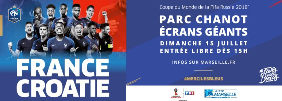 , Comment faire pour regarder la finale de la Coupe du monde France-Croatie au parc Chanot