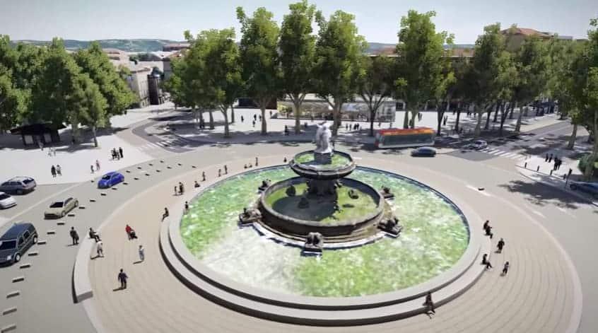 , La Rotonde d'Aix-en-Provence change de visage et laisse plus de place aux piétons