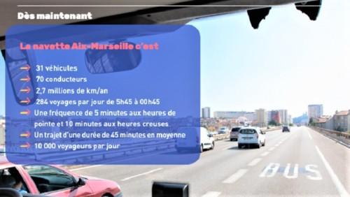 , Des cars à double étage pour renforcer la ligne 50 entre Marseille et Aix