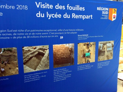 , Marseille – Des vestiges archéologiques préservés au lycée du Rempart