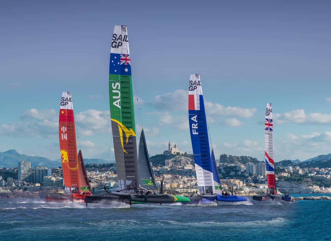 , Sail GP – des tribunes sur la Digue du Large pour admirer la finale