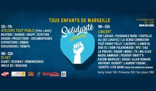 , Faf Larage, Puissance Nord, Scred Connection : festival en solidarité avec Noailles au Dock des Suds