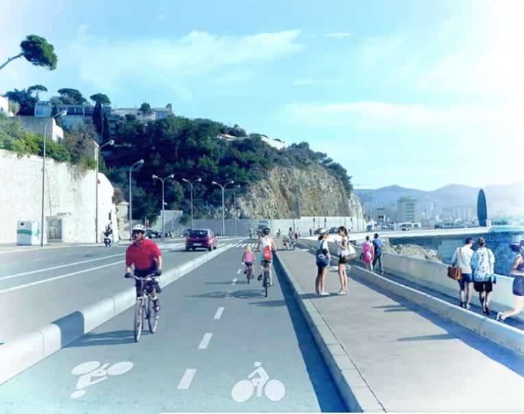 , Vidéo – Découvrez la piste cyclable en projet sur la Corniche Kennedy