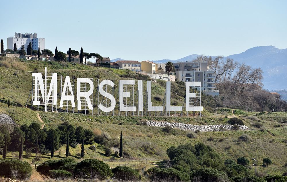", Les lettres blanches géantes ""Marseille"" se refont une beauté, Made in Marseille, Made in Marseille"