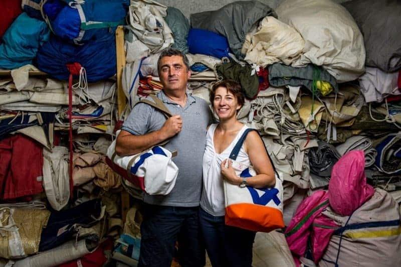 , Des Provençaux recyclent des voiles de bateaux pour en faire des sacs