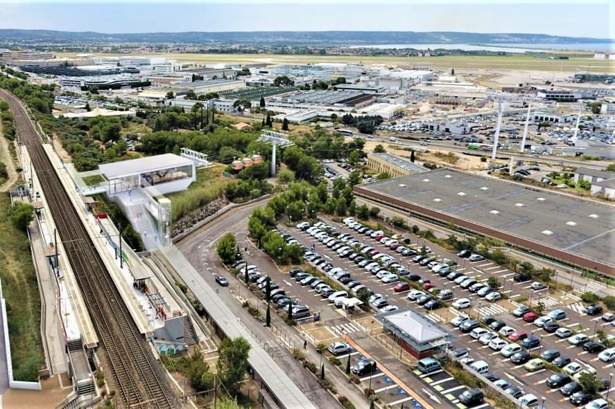 , En images – Un téléphérique entre l'aéroport Marseille-Provence et la gare de Vitrolles en 2024