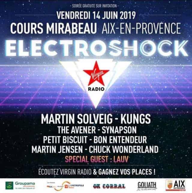 , Martin Solveig, Kungs, The Avener, Synapson en concert gratuit à Aix !