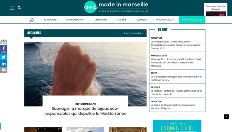 , La cuisine s'associe à la littérature avec Lecture par nature, Made in Marseille, Made in Marseille