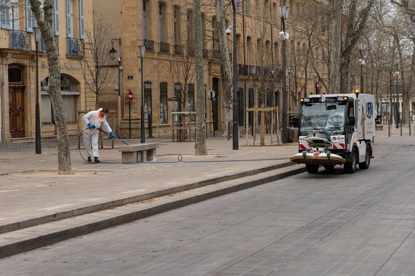 , Covid-19 : Aix-en-Provence a lancé la désinfection de ses rues, Made in Marseille, Made in Marseille