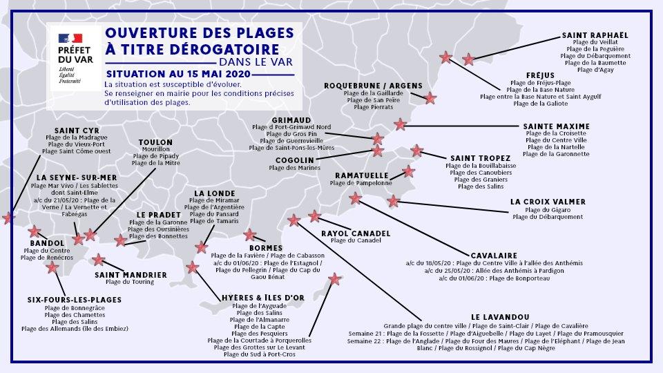 , Déconfinement : La liste de la réouverture des plages dans le Var, Made in Marseille